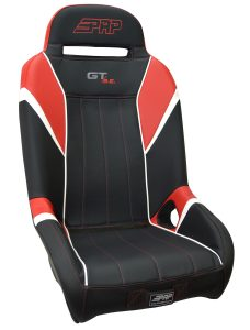 GT S.E. suspension seat in black, red and white