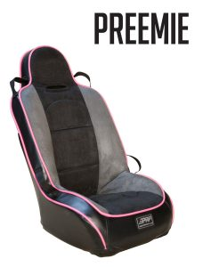 Preemie suspension booster seat in black and pink