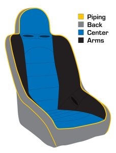 Seat color locations