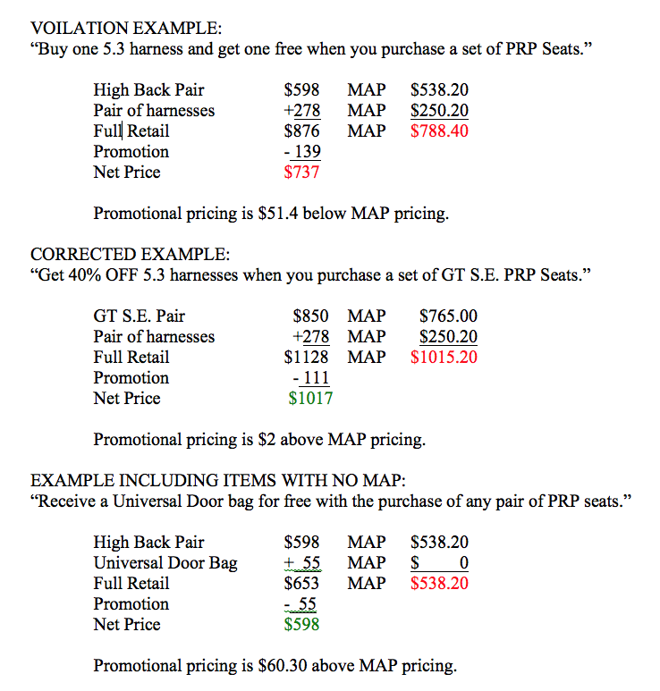 Pricing Questions: NOTICE: PRP Seats General Terms & Conditions Policy