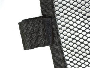 Hook and loop attachment for window nets